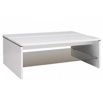 Журнальний стіл BRW Ацтека LAW/4/11 110х40х65 білий/білий глянець