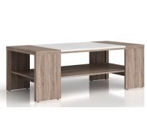 Журнальний стіл Gerbor Доменіка LAW/120 120х42х60 дуб сонома темний/білий глянець