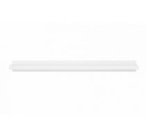 Полка навесная BRW Крістіна POL/140 143х8х25 білий\білий глянець