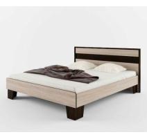 Ліжко двоспальне Сокме Скарлет+ламель 160х200 дуб сонома/венге
