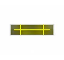 Полиця настінна Gerbor Мобі POL 115х30х25 жовтий/німфеа альба