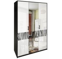 Шафа MiroMark Терра 3Д 138х212,5х55 чорний/білий глянець