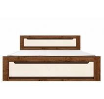 Ліжко двоспальне Gerbor Еріка + ламель 160х200 дуб техас\світло-сірий софт тач