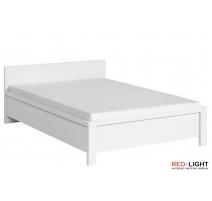 Ліжко односпальне BRW Крістіна LOZ/90 90х200 білий\білий глянець